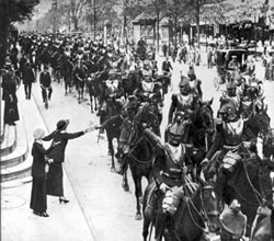 French cavalry in Paris