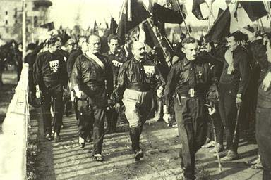 Fascists marching to Rome, 1922
