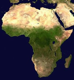 Satilite image of africa