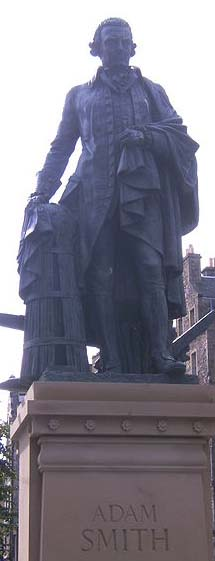 Statue of Adam Smith in Edinburgh Scotland