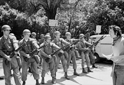 National Guard at U.S. Berkeley