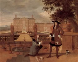 King Charles II presented with a pinapple