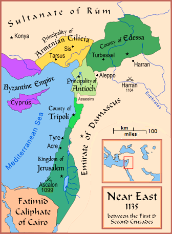 The Near East in 1135