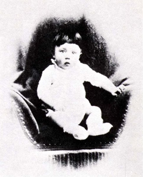 Photo of Adolf Hitler as an infant