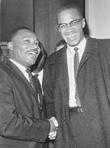 Martin Luther King and Malcolm X in 1964