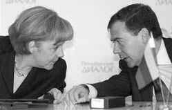 Chancellor Merkel and President Medvedev