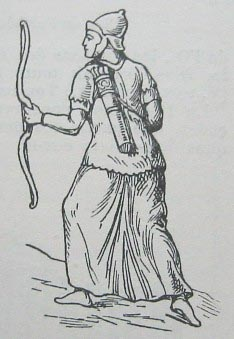 Sketch of Parthian warrior