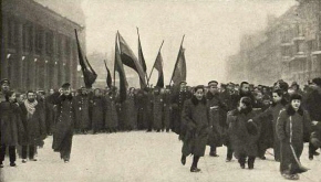 Marchers in Petrograd