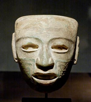 Face in stone from Teotihuacan