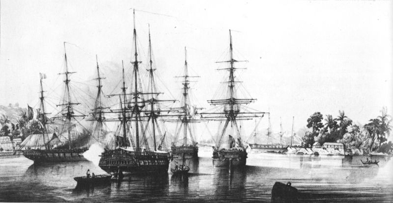 French Warships in Tahiti, 1842