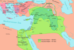 Middle East and Assyrian Empire, 800 to 671 BCE