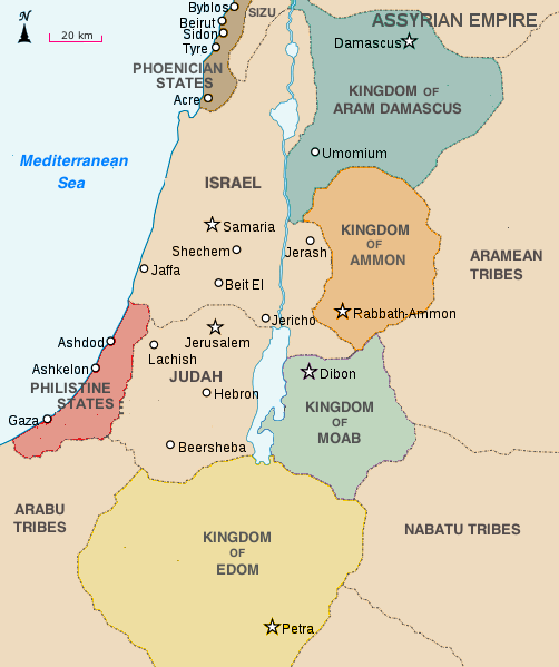 The Middle East, including Edom, around 830 BCE
