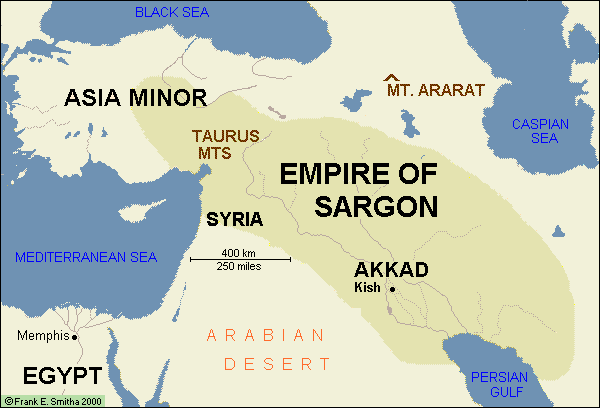 Map of Mesopotamia: Empire of Sargon