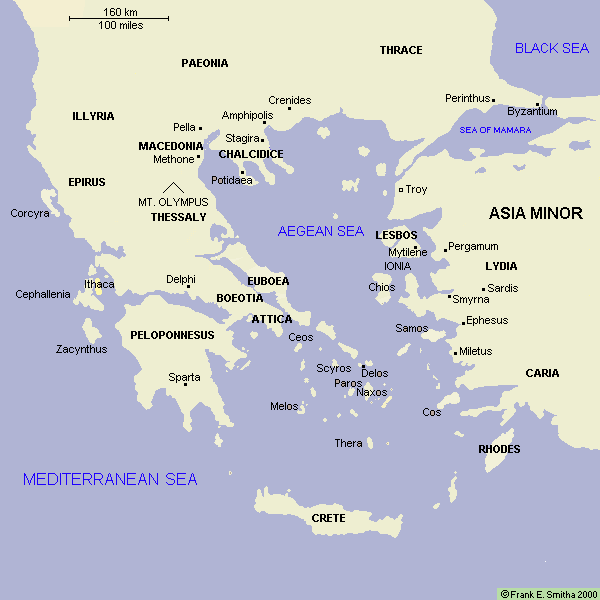 Map: The Aegean Region, to 300 BCE