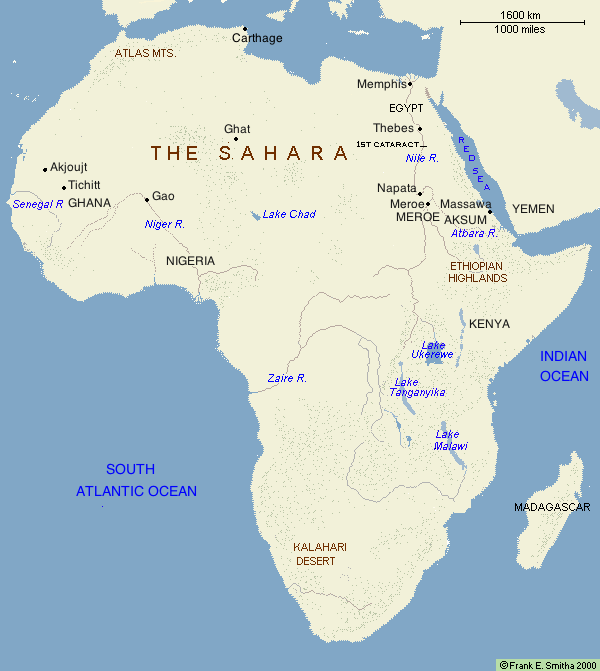Map of Africa to CE 500