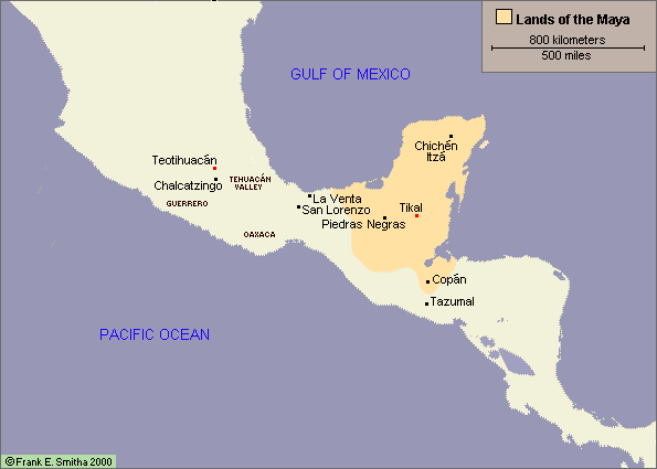 Map: Mesoamerica and the Maya