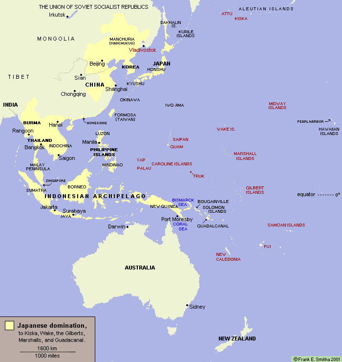Japan's Conquests to 1942