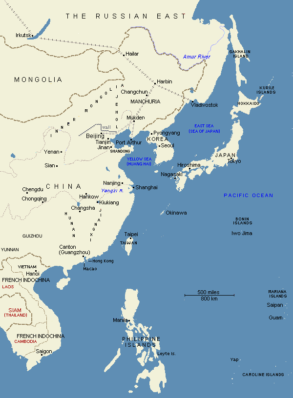 Map: East Asia, 1903