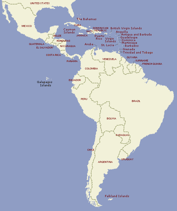 Nations of Latin America to 2007