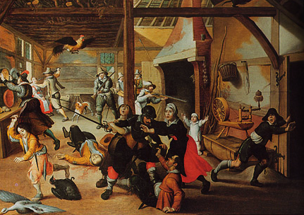 Soldiers Plundering a Farmhouse