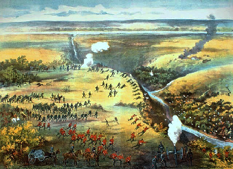 Painting of the Battle of Fish Creek
