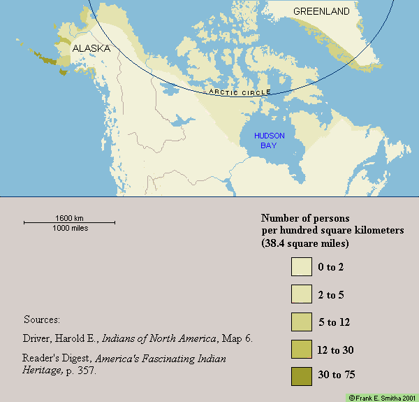 Map: Inuit Territories circa 1500 C.E.