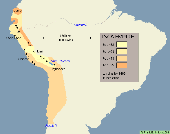 Map: The Inca Empire