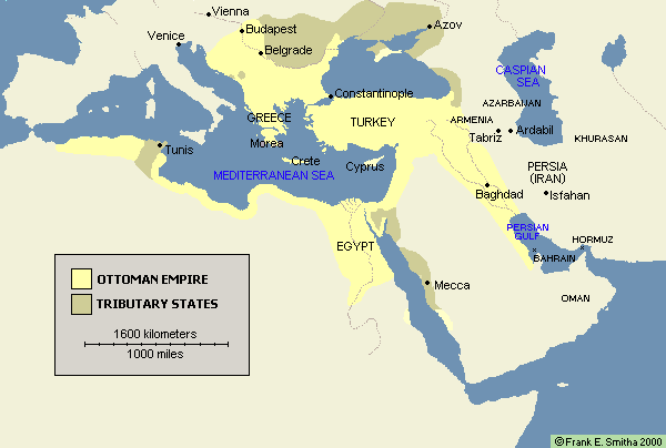 Ottoman Empire and Tributary States, 1566 to 1699