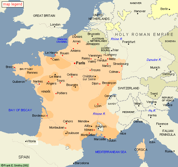 Map: The French Revolution