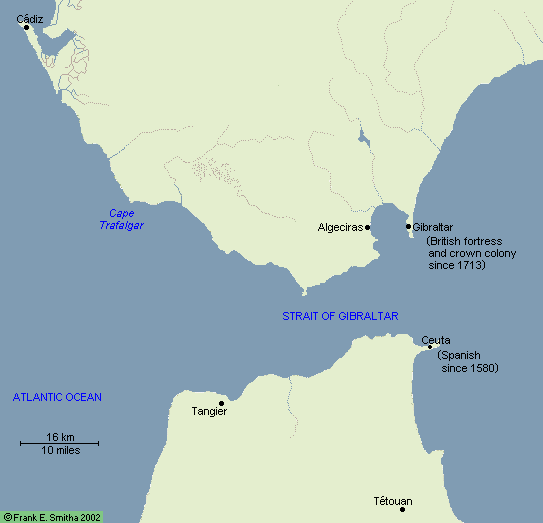 Map: The Strait of Gibraltar