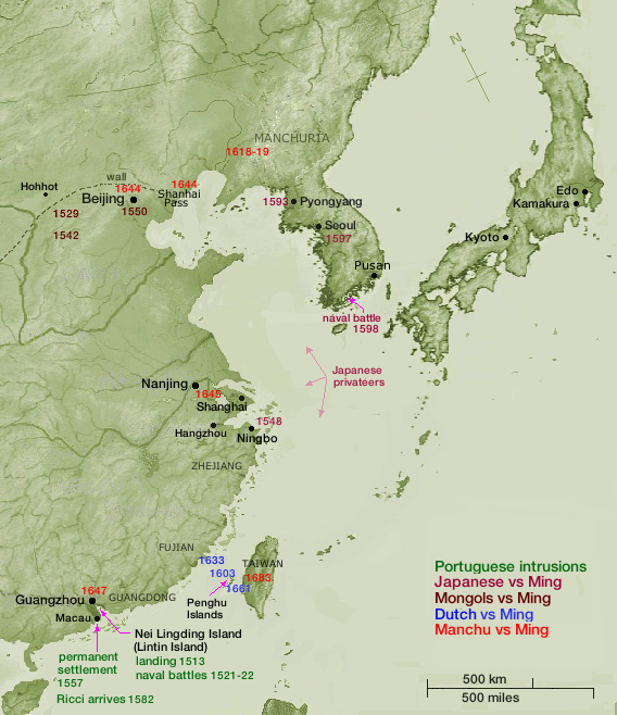 Ming to Qing dynasties, 1501-1700