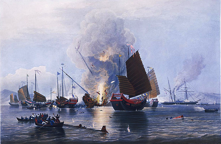 Sea battle, First Opium War