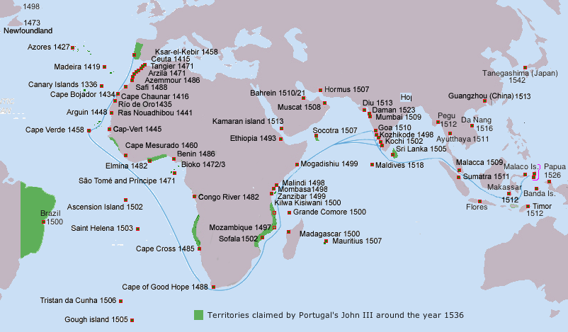 Portuguese Exploration, map