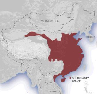 Sui Dynasty, 609 CE