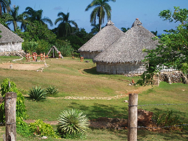Reconstructed Taino village in Cuba