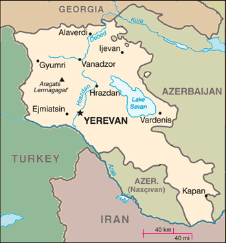 Armenia among neighboring states