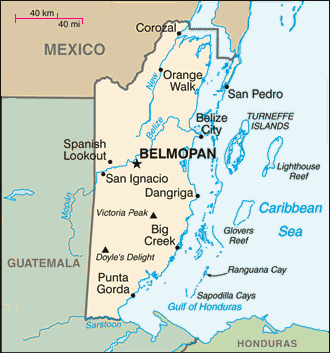 Map of Belize