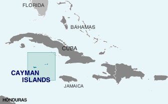 Location of Cayman Islands