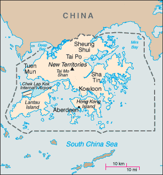 Map placing Hong Kong