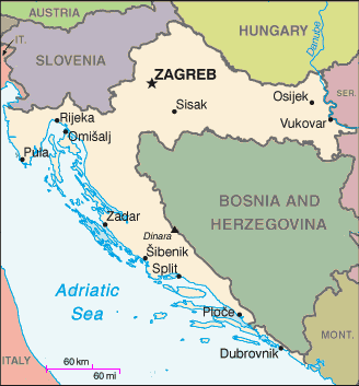 Map of Croatiaxx
