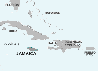 location of Jamaica