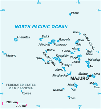 Location of Marshall Islands