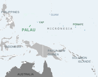 Location of the Republic of Palauxxx