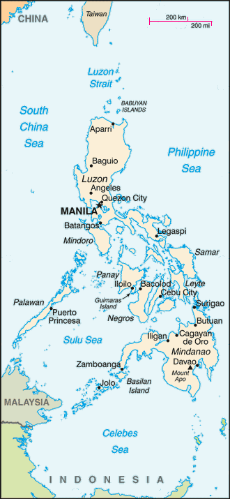 Map of Philippine Islands