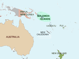 Location of Solomon Islands