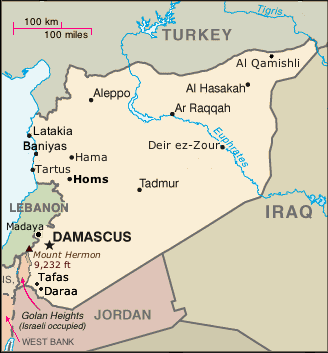 map of Syria for World News