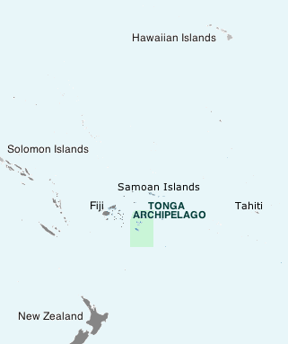 Location of Tonga Archipelago