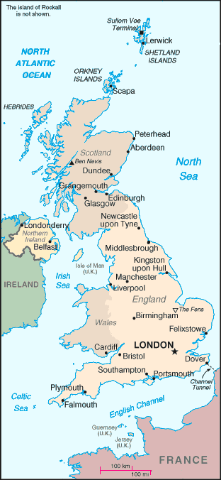 Map of Britain (United Kingdom)